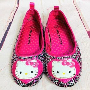 Hello Kitty Girls Sequin Shoes Sz 12